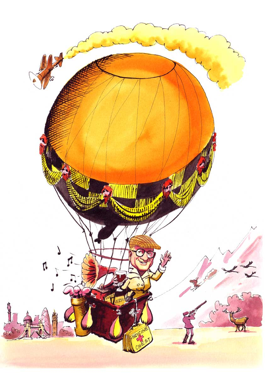 Thank You Gift Caricature Hot Air Balloon- Paul Raymonde