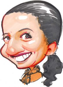 Quick colour caricature for website about page