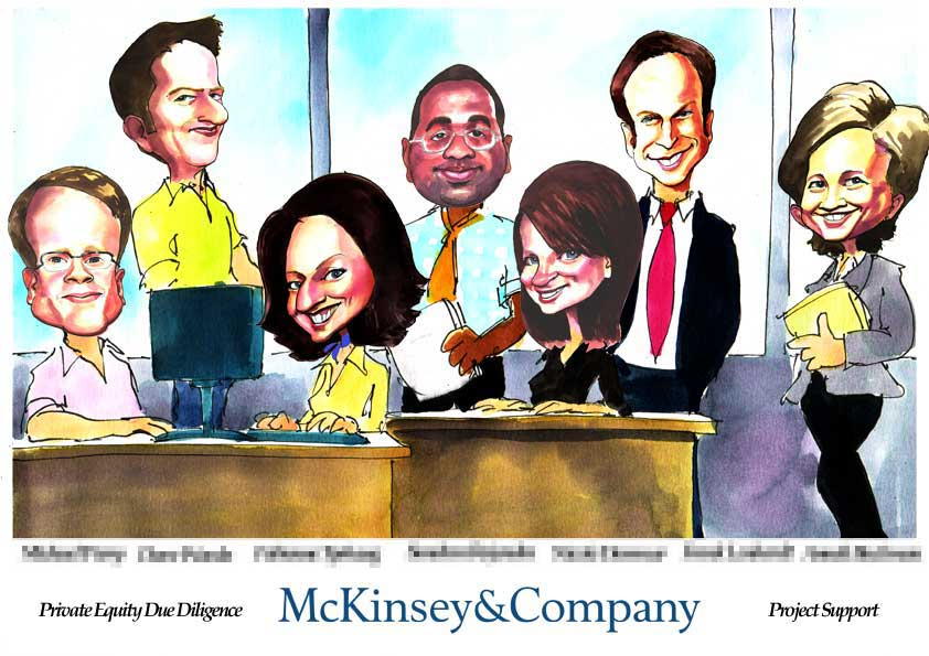 Deal Tombstone Cartoon – McKinsey – Support