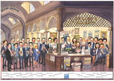 original-business-personalised-retirement-leaving-gift-caricature-giggleface-Goldman-Sachs-DA