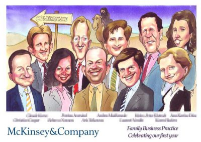 original-corporate-deal-team-tombstone-award-caricature-giggleface-McKinsey-Family