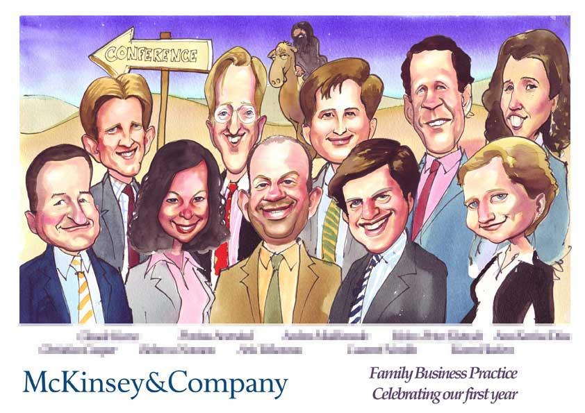 Deal Tombstone Cartoon – McKinsey – Family