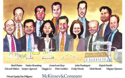 Deal Tombstone Cartoon – McKinsey – Pharma