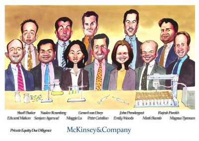 original-corporate-deal-team-tombstone-award-caricature-giggleface-McKinsey6