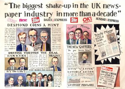 caricature-business-team-financial-deal-giggleface-Barclays-Northern-&-Shell