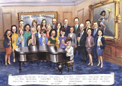 corporate-retirement-leaving-gift-caricature-cartoon-giggleface-Edith-Cooper-Goldman-Sachs